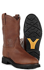 Ariat® Mens Sierra Slip-on Waterproof Workboots - Sunshine