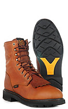 Ariat® Mens Cascade Waterproof Lace-up Workboots - Sunshine