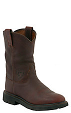 Ariat® Mens Sierra Slip-on Workboots - Henna