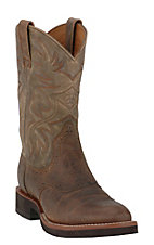 Ariat Men's Earth & Brown Bomber Heritage Crepe Sole Boots