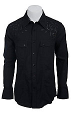Rock & Roll Cowboy Men?s L/S Western Snap Shirt B2S6447