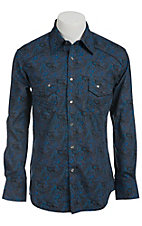 Rock & Roll Cowboy Men's L/S Western Snap Shirt B2S7214