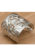 Montana Silversmiths® Silver Spring Filigree Flowers and Vines Wide Cuff Bracelet