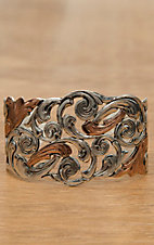 Montana Silversmiths® Silver and Gold Autumn Vines Cuff Bracelet