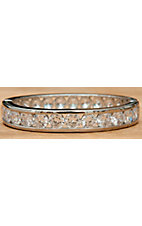 Montana Silversmiths® Silver Crystal Shine Bangle Bracelet