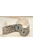 Montana Silversmiths® True Blue Wildflower Spray Cuff Bracelet