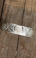 Montana Silversmiths® Simple Love Etched Hearts Silver Cuff Bracelet