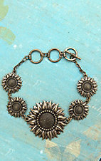 Montana Silversmiths� Antiqued Gold Sunflower Bracelet
