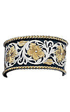 Montana Silversmiths® Tri-colored Floral Scroll Cuff Bracelet