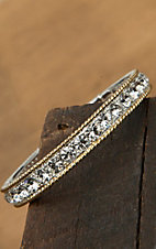 Montana Silversmiths® Two-toned Crystals Bracelet