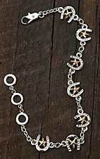 Montana Silversmiths® Two-toned Small Horseshoe & Star Bracelet