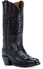 Black Jack Men's Black Cherry Gator Belly Exotic Western Boots