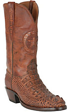 Black Jack Men's Brown Horned Gator Exotic Western Boots