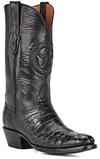 Black Jack Men's Black Gator Belly Exotic Western Boots