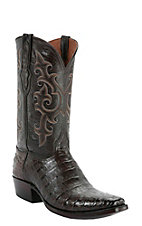 Black Jack� Men's Chocolate Caiman Belly Snip V-Toe Exotic Western Boots