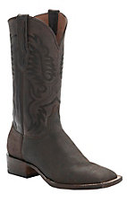 Black Jack� Men's Dark Brown Safari Giraffe Double Welt Square Toe Western Exotic Boots