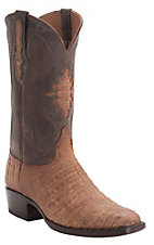 Black Jack Men's Cognac Suede Caiman Exotic French Toe Western Boots