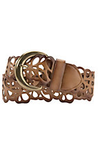Angie® Brown Scalloped Woven Belt BL119BR
