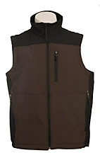 Larry Mahan Men's Brown & Black Softshell Vest