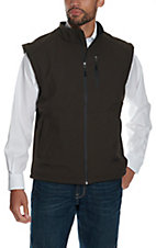 Larry Mahan Men's Brown Softshell Vest