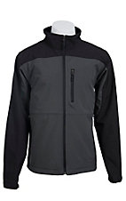 Larry Mahan Men's Grey & Black Softshell Jacket