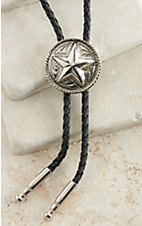 AndWest® Antiqued Silver Texas Star and Rope Bolo Tie