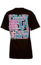Girlie Girl® Ladies Sassy Talkin' Boot Wearin' Brown Short Sleeve Tee