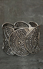 West & Co® Silver Tribal Disc Stretch Bracelet