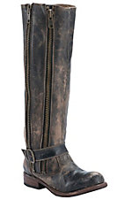 Bed|Stu Women's Black Lux Tango Round Toe Fashion Riding Boot