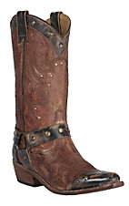 Bed|Stu Women's Ox Blood Cisalpine Harness Wingtip Snip Toe Western Fashion Boot