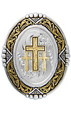 Montana Silversmiths® Silver and Gold 3 Cross Bolo