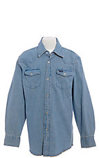 Wrangler® Boy's Long Sleeve Denim Western Shirt