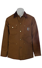 Carhartt Brown Blanket Lined Duck Chore Coat - Big Sizes