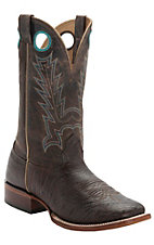 Cavender's Men's Kango Brown Smooth Ostrich Double Welt Square Toe Western Boots