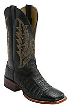 Cavender's® Black Caiman Belly Square Toe Exotic Western Boots