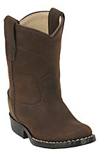 Cavenders® Infant Bay Apache Brown Western Roper Boots