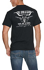 Cowboys Unlimited® Men's Black God, Guns & Glory Short Sleeve Tee