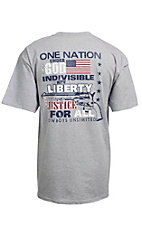 Cowboys Unlimited® Men's Heather Grey Justice For All Short Sleeve Tee