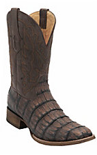Corral Men's Brown Crackle Caiman Exotic Double Welt Square Toe Western Boots
