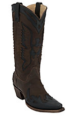 Corral® Women's Vintage Brown w/ Black Eagle Snip Toe Western Boots