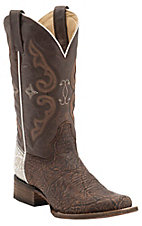 Corral Rodeo Collection Women's Brown/White Shoulder Double Welt Square Toe Western Boots