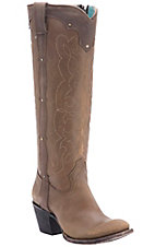 Corral Boot Company Women's Distressed Brown Kats Westport Round Toe Western Boots