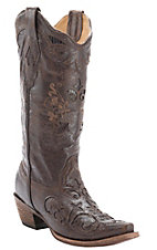 Corral Ladies Vintage Chocolate w/ Chocolate Lizard Inlay Snip Toe Western Boots