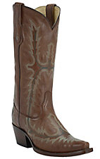 Corral Ladies Cognac Brown Fancy Stitch Snip Toe Western Boots