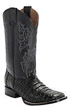 Corral® Circle G™ Men's Black Caiman Belly Exotic Double Welt Square Toe Western Boots