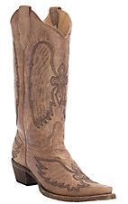 Corral® Circle G™ Women's Cognac Winged Cross Embroidered Snip Toe Western Boots