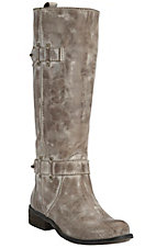 Corral Ladies Washed Taupe w/Strap Tall Top Round Toe Western Fashion Boots