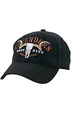 Cavenders® Grey & Blue Plaid Logo Cap