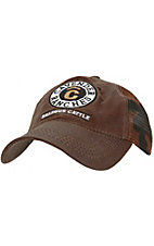 Cavenders® Ranch Oiled Brown Mesh Back Cap CBSKLT91
