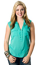 Vintage Havana® Women's Jade Hi-Lo Sleeveless Fashion Top